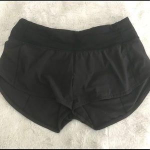 Lululemon black speed up short